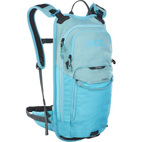EVOC Stage Sac à dos Technical Performance 6l + réservoir d'hydratation 2l, aque blue/neon blue